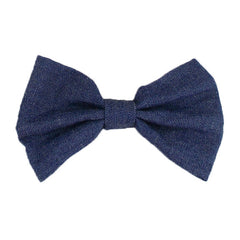 "Denim - 4"" Fabric Bow"