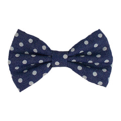 "Denim Polka Dots - 4"" Fabric Bow"