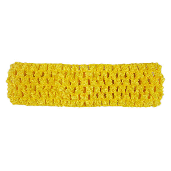 "Yellow - 1.5"" Crochet Headband"