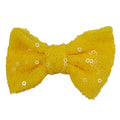 "Yellow - 4"" Sequin Bow"