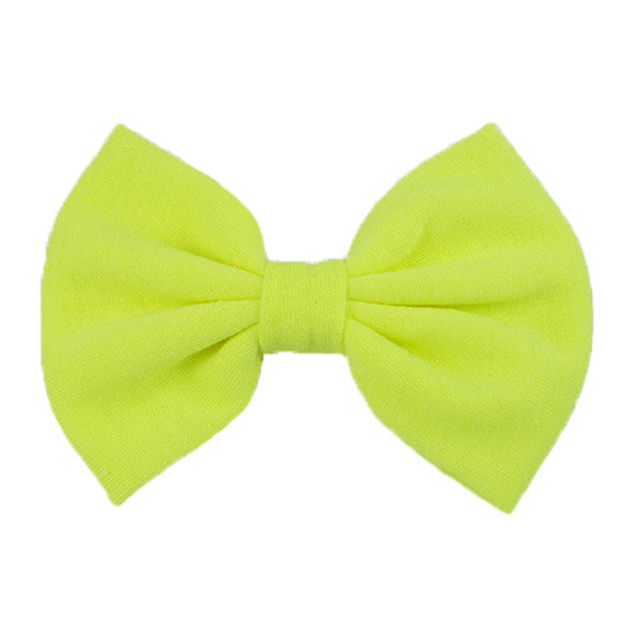 Neon Yellow - XL Jersey Knit Bow
