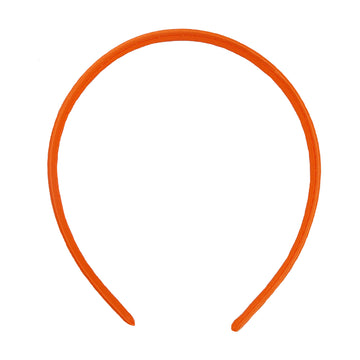 Neon Orange - 10mm Satin Lined Headband