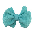 "Aqua - 4"" Bullet Fabric Messy Bow"