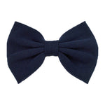 Navy Blue - XL Jersey Knit Bow