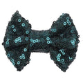 "Emerald Green - 4"" Sequin Bow"