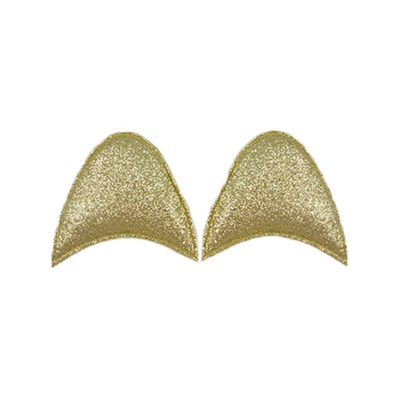 Gold Glitter - Padded Unicorn or Cat Ears