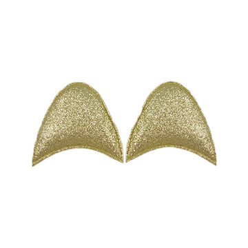 "Gold Glitter - 2.5"" Padded Unicorn Ears"