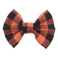 "Orange Buffalo Plaid - 3"" Fabric Bow"