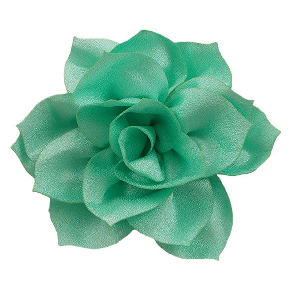 "Sea Foam - 4"" Satin Lotus Flower"