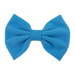 Blue - XL Jersey Knit Bow