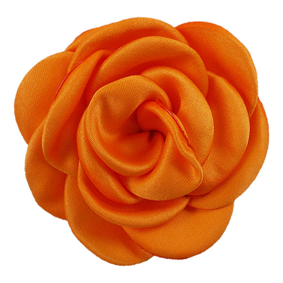 "Orange - 2.25"" Satin Petal Rose"
