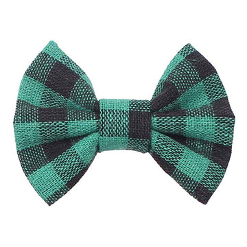 "Green Buffalo Plaid - 3"" Fabric Bow"