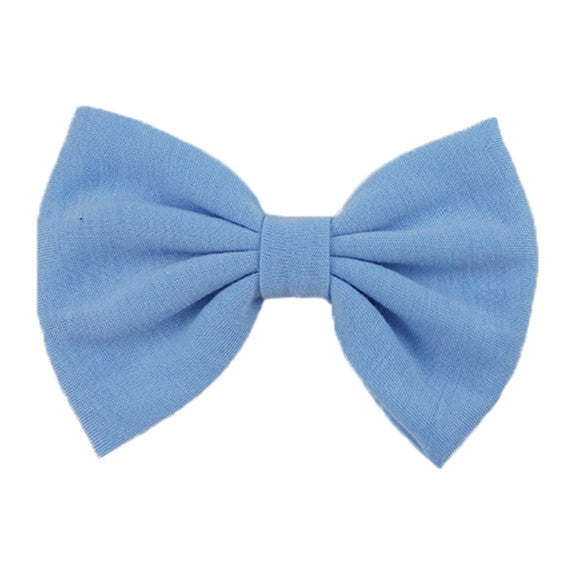 Light Blue - XL Jersey Knit Bow