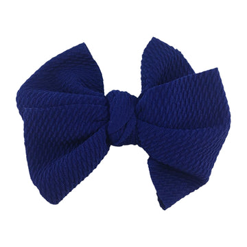 "Royal Blue - 4"" Bullet Fabric Messy Bow"