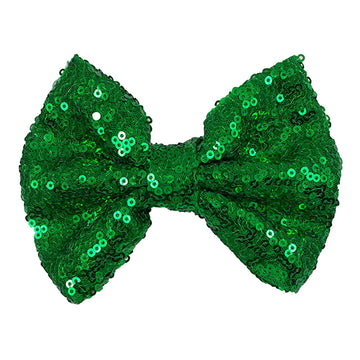 "Green - 4"" Sequin Bow"