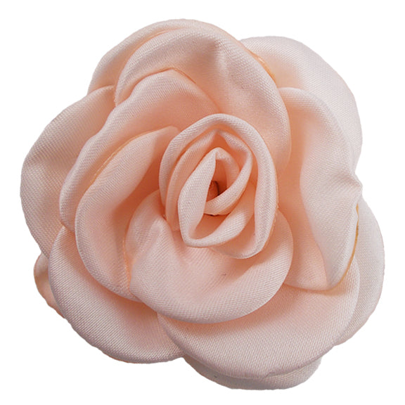 "Pale Peach - 2.25"" Satin Petal Rose"