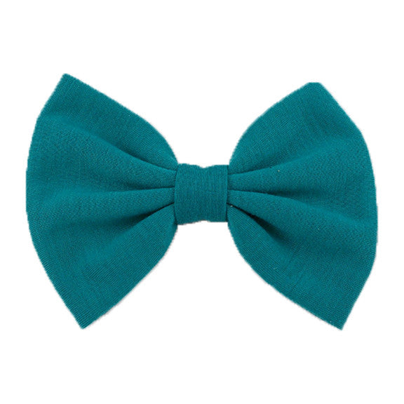 Teal - XL Jersey Knit Bow