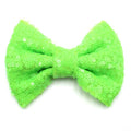"Neon Green - 4"" Sequin Bow"