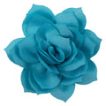 "Aqua - 2.5"" Satin Lotus Flower"