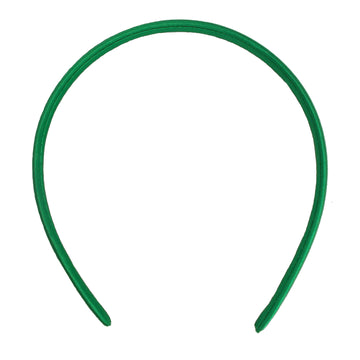 Green - 10mm Satin Lined Headband