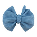 "Light Blue - 4"" Bullet Fabric Messy Bow"
