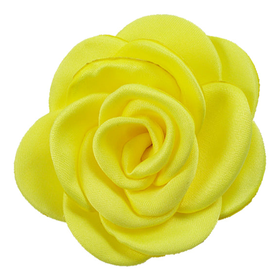 "Yellow - 2.25"" Satin Petal Rose"