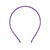 Purple - 5mm Satin Lined Metal Headband