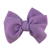 "Lavender - 4"" Bullet Fabric Messy Bow"