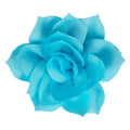 "Aqua - 4"" Satin Lotus Flower"