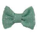 "Sea Foam Matte - 4"" Sequin Bow"