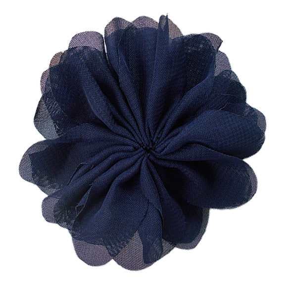 "Navy Blue - 2.5"" Ballerina Flower"