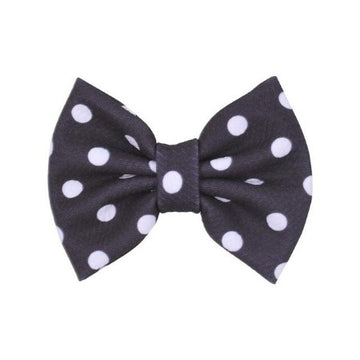 "Black + White Dot - 5"" Bullet Fabric Bow"