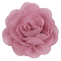 "Dusty Rose - 3"" Silky Chiffon Rose Flower"