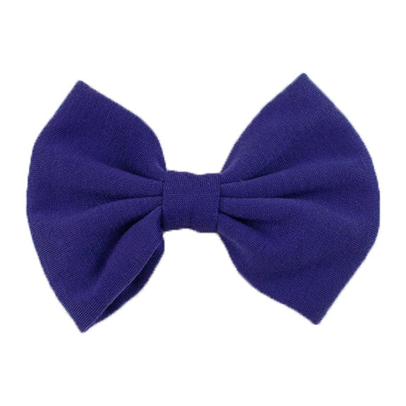 Purple - XL Jersey Knit Bow