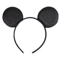 "Black - 2.75"" Glitter Mouse Ears Headband"