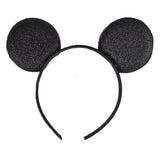 Black - Glitter Mouse Ears Headband