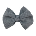 "Gray - 4"" Bullet Fabric Messy Bow"