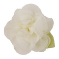 "Ivory - 2"" Chiffon Blossom Flower with Leaf"