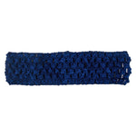"Navy Blue - 1.5"" Crochet Headband"