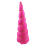 "Hot Pink Felt - 5"" Padded Unicorn Horn"