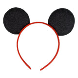 Black & Red - Glitter Mouse Ears Headband
