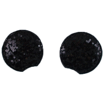 "Black - 2.75"" Sequins Mouse Ears"