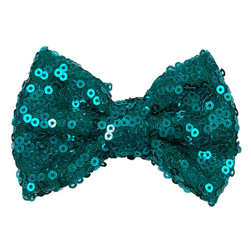 "Mermaid Blue - 4"" Sequin Bow"