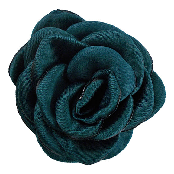"Emerald - 2.25"" Satin Petal Rose"