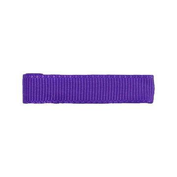 Purple - Partially Lined - Single Prong Alligator Clip - 45mm
