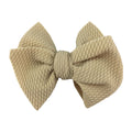 "Tan - 4"" Bullet Fabric Messy Bow"