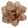 "Beige - 2.5"" Satin Lotus Flower"