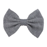 Gray - XL Jersey Knit Bow