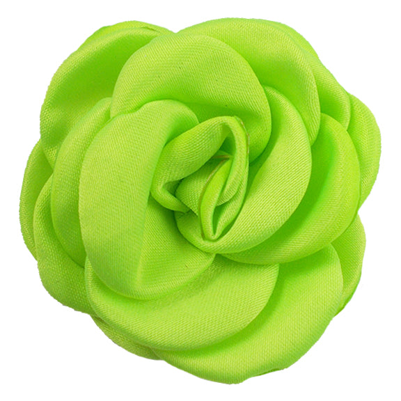 "Neon Green - 2.25"" Satin Petal Rose"