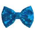 "Cinderella Blue - 4"" Sequin Bow"